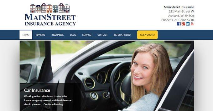 Main Street Insurance Agency Website